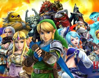 """Zelda Hyrule Warriors  Poster 8.5"""" x 11"""" - 11"""" x 17"""" - 13"""" x 19"""""""