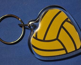 Water Polo Heart Keychain