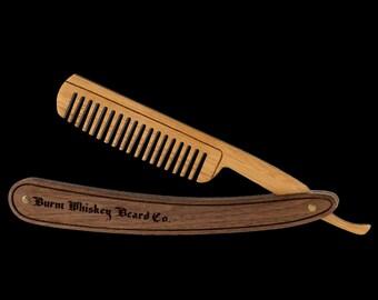 Wooden Straight Razor Combs
