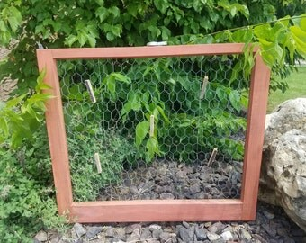 Antique Window Chicken Wire Memo Board