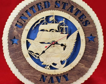 Navy Enlisted Wall Clock