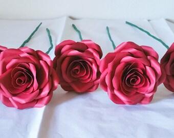 Paper Roses / Paper Flowers / Cardstock Paper Roses