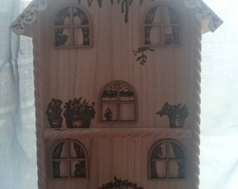 Pyrography Fairy Summer house