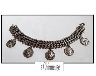 French vintage JEWEL BRACELET has charms Bracelet /Charm / remember french Bracelet / Bracelet bracelet.