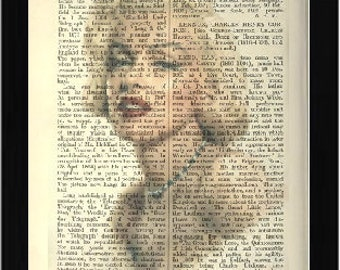 UNIQUE Marilyn Monroe Art Print Book Page Vintage  Recycled Print from an Encyclopaedia