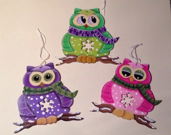 Owl Ornaments Your Choice! Choose One