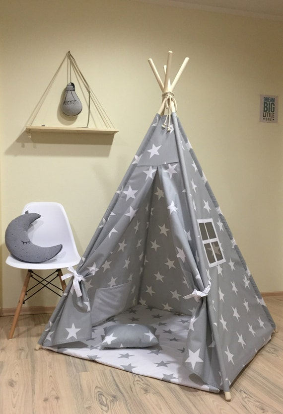 Like this item? & Tipi Play Tent Teepee Cozy Grey Stars Kids Teepee Play Tent