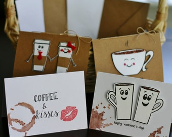 Latte Love Valentines, Set of 4