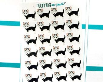 Black Husky Puppy Dog Planner Stickers!