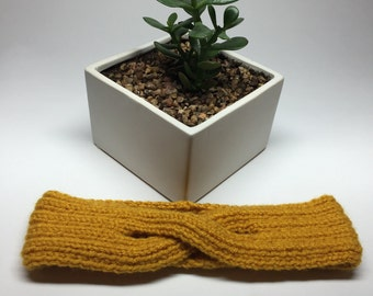 Hand Knitted Criss Cross Head Band