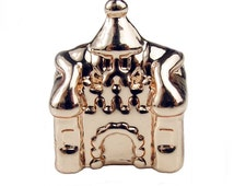 1 Rose Gold Castle Bead Charm European Beads Fits Pandora Bracelets -6N