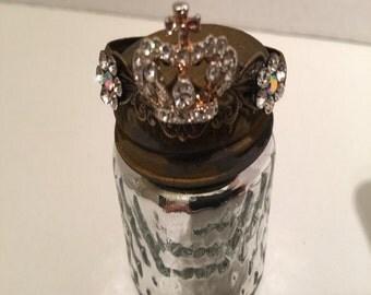 Tiny rhinestone crown