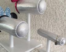 Silver/White Base - Mouse Ear Display and Magic  Band/Bangle Holder