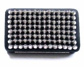 Black Silver Spiked Studded Clutch Wallet