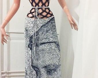 Jean Paul Gaultier, stunning digital print dress