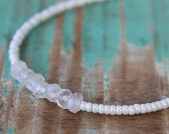 Bracelet Moonstone/ White, Stacking Bracelet
