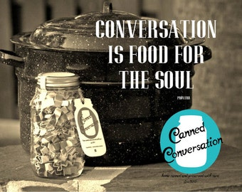 Thanksgiving Batch of Conversation Starters - Quart of Canned Conversation