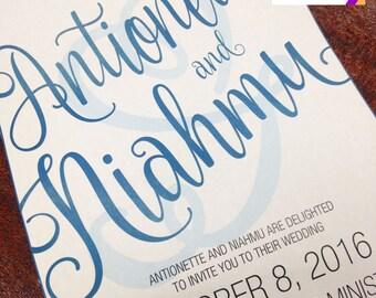 Simple, Modern Wedding Invitation (Digital File)