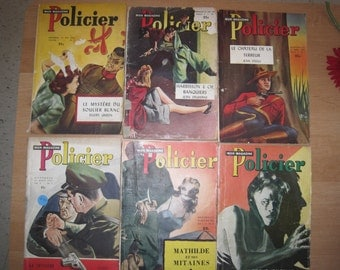 Vintage 6 novels collectible policeman / 6 policies romance Collection
