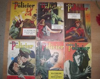Vintage 6 magazines policeman Collection