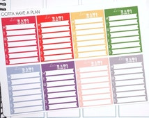 Meal Plan Lets Eat SideBar List for Erin Condren, Happy Planner, Filofax, Scrapbooking