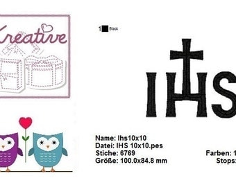 IHS, Jesus, Bible, embroidery
