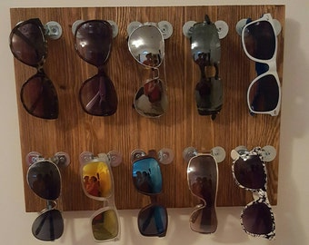 Wall Sunglass Display/Holder (holds 10 pairs) - Vintage/Industrial Style