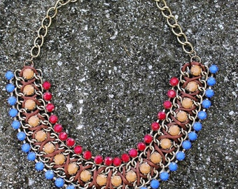 Statement Necklace, Chunky necklace, for her, christmas gift,