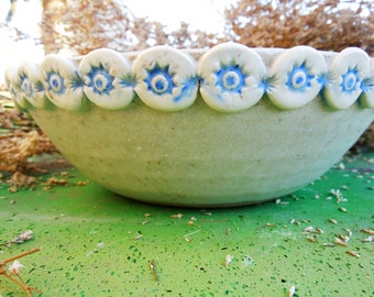 VINTAGE: Pottery Bowl /  Condiment Bowl /  Handmade Pottery / JM Pottery/Ceramic Bowl .
