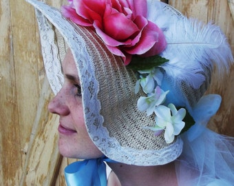 Regency Bonnet, Straw Sun Hat