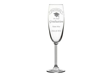 Congratulations On Your Graduation Personalised Engraved Champagne Flute