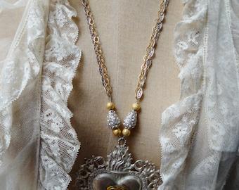 Ex Voto GR (Grazia Ricevuta) Assemblage Necklace - NRU259