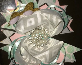 Glam over the top stacked boutique bow
