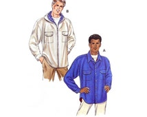 1998 Kwik Sew 2728 Lined Shirt Jackets with Zipper or Button Closure & Optional Hood, Uncut, Factory Folded Sewing Pattern Multi Size S-XXL