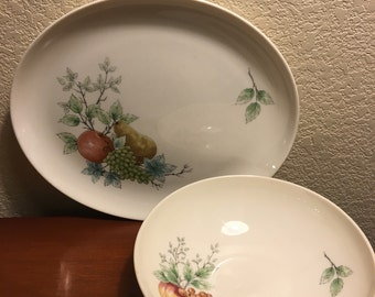 Vintage Syracuse Wayside serving platter and bowl set