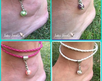 Mermaid on a pearl wrap anklet