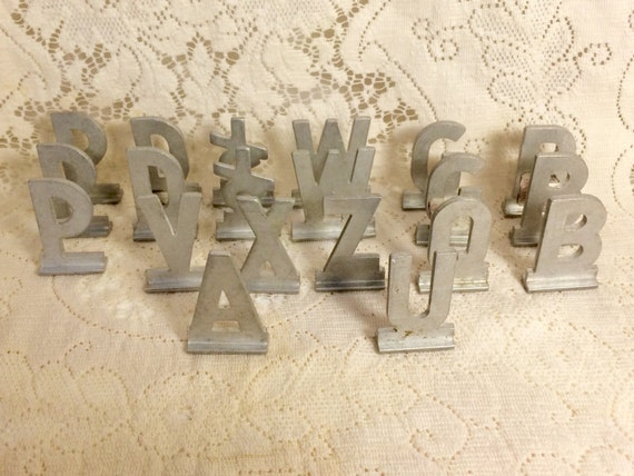 small metal letters small metal letters 24901