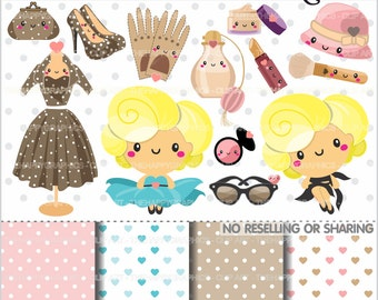 Girl Clipart, 80%OFF, Diva Clipart, COMMERCIAL USE, Fashion Clipart, Glamour Clipart, Girl Graphics, Planner Accessories