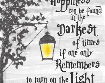 Dumbledore Harry Potter Quote Digital Print