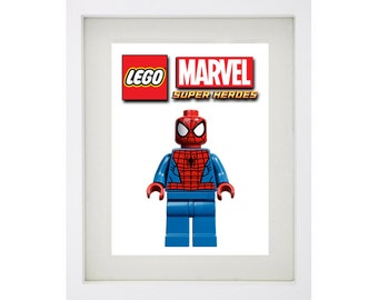 SPIDERMAN LEGO CHARACTER Print Art Collection - Marvel Comics Superheroes Collection
