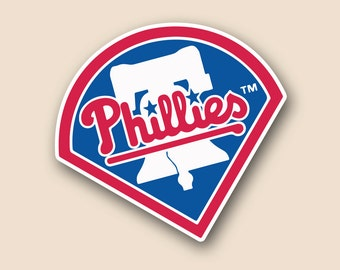 "PHILADELPHIA PHILLIES Set of 2 Vinyl Cornhole DECAL Logo Wall Sticker Car Truck 12"" Size"