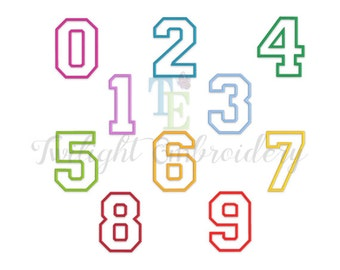 Set of 10 Applique Numbers Machine Embroidery Designs, Embroidery Applique Numbers, Machine Embroidery Designs 0038