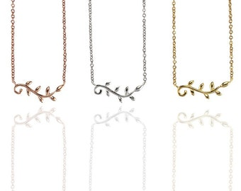 Small Leaf Necklace 925 / Sterling Silver