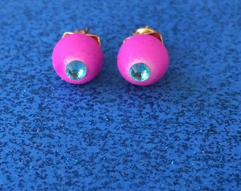 Purple stud earrings