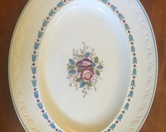 "Evenlode Oval Serving Plate 15.5"" Corinthian Wedgewood"