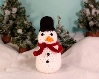 Amigurumi plush snowman