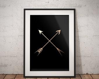 Arrows Gold&Black print