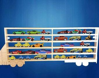Lorry toy car storage