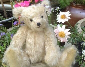 """Albertina, a 9"""" hand sewn mohair collector's bear"""