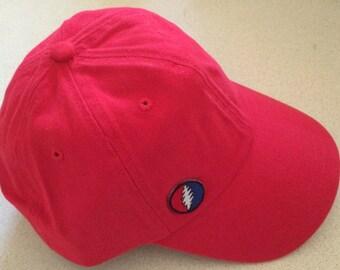 13 Point Bolt on Red Baseball Hat